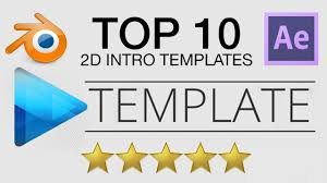 2d intro templates for blender top 10 free 2d intro templates 1 after effects blender sony