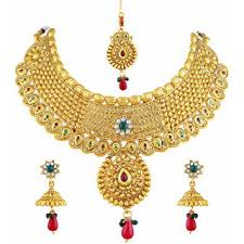 necklace design gold images Buy asmitta dazzling flower design gold plated choker style jpg