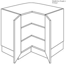 meuble d angle cuisine meuble d angle à 2 étagères à 90 degrée in cuisine meuble d angle