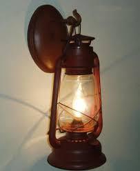 Rustic Bathroom Sconces Rustic Electric Lantern Wall Sconce Big Rock Lanterns Custom