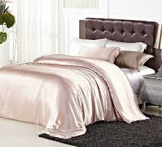 luxury light pink satin silk elegant bedding comforter duvet cover