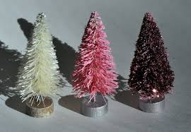 how to paint and glitter a bottle brush tree youtube