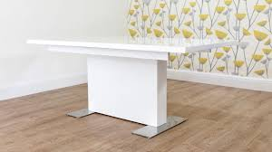 white dining room table extendable mid century modern white gloss extending dining table home