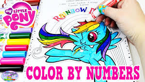 my little pony color by numbers coloring book mlp colors episode