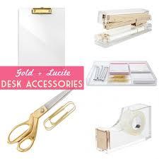 Lucite Desk Accessories Glam Decor Lucite Desk Desk Accessories And Desks