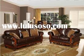Leather And Wood Sofa Impressive Wood And Leather Sofa Photo Of Leather And Wood Sofa