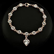 crystal heart charm bracelet images Linked forever crystal heart charm bracelet choose your color png