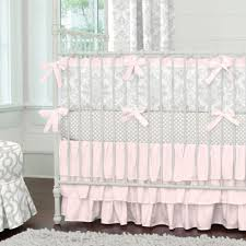 Toddler Bedding For Convertible Cribs by Pink And Gray Crib Bedding Sets Awesome As Baby Bedding Sets And