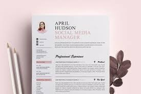 social media resume template cv resume templates creative market