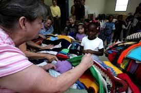 a c moore u0026 premier yarns help bring warm clothing to children wv