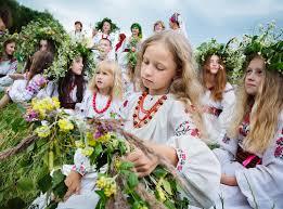 traditional slavic celebrations of ivana kupala editorial photo