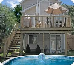 images of 2nd floor walk out decks with steps fence all 2nd