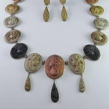 cameo antique necklace images Museum quality 1870s victorian lava cameo parure necklace bracelet jpg