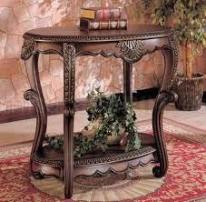Antique Accent Table Antique Brown Finish Accent Table Wgold Accents Antique Accent