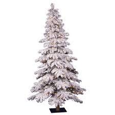 flocked christmas tree flocked christmas trees you ll wayfair