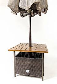 Patio Umbrella Holder by Patio Umbrella Stand Wood Wicker Table Coffee Outdoor Side Holder