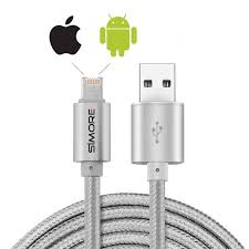 apple to android transfer dualcable lightning micro usb charging and syncing cable for