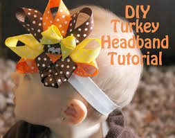 turkey headband turkey headband tutorial s