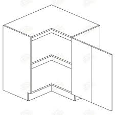caisson angle cuisine moreno meuble angle bas drp 90x90 1 porte