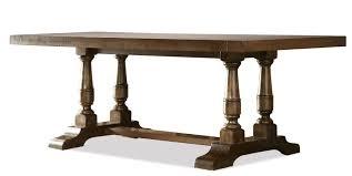 Living Spaces Dining Table Set by Riverside Furniture Newburgh Alder Hardwood Solid Rectangular