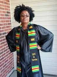 authentic woven bachelor of nursing graduation kente cloth stoles