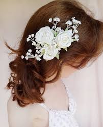 flower hair clip bridal hair accessory pearl wedding hairpiece bridal headpiece