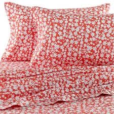 Bed Bath And Beyond Flannel Sheets Teen Vogue Dancing Daisies Flannel Sheet Set In Coral