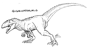 giganotosaurus coloring page coloring home