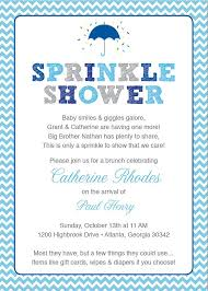 baby sprinkle invitations blue baby sprinkle shower invitation blue grey girl chevron
