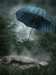 imagenes de paisajes lluviosos paisaje lluvioso con el paraguas stock de ilustración ilustración