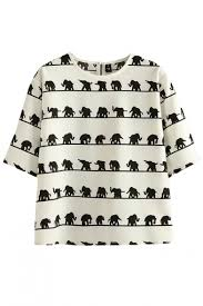 elephant blouse all tiny elephant print neck blouse beautifulhalo com