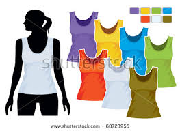 colorful tank top template download free vector art stock