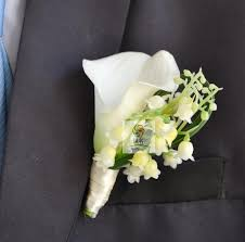 boutonniere cost real touch white calla wedding boutonniere artificial groom