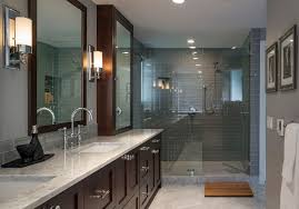seattle gray shower tile bathroom traditional with counter