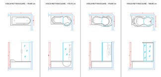 vasche dwg vasche da bagno 2d infobuilding