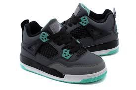 kid jordans kid 4 shoes iv green glow grey green glow cement grey