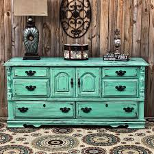 aqua dresser distressed buffet shabby chic by aquaxpressions