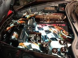 motorcycle with corvette engine engine bay airbrush incorporated inc custom airbrushed artwork