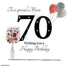 happy 70 birthday personalised cream happy 70th birthday mum heart