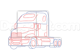 how to draw a mack truck step by step trucks transportation