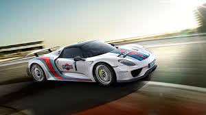 porsche side view porsche 918 spyder using martini racing livery side view front