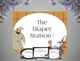 nightmare before baby shower invitation skellington