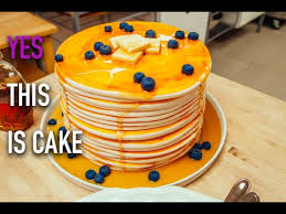 cake how to how to make a stack of blueberry pancakes out of cake with