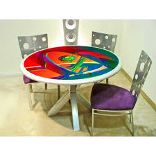 furniture archaicfair colorful dining table large and beautiful