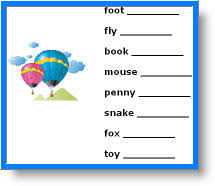 nouns free plurals worksheets for kids elementary grammar