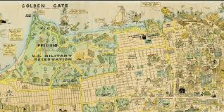 Map Of The Up 1927 Cartoon Map Of Sf Is Awesome And Adorable U2014 The Bold Italic