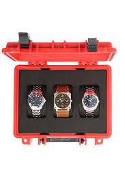 watch travel case images Watchobsession oyster three watch travel case in red series 3 0 jpg