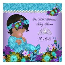 peacock baby shower princess baby shower girl teal blue purple invitation ladyprints