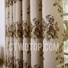 delicate floral retro curtains and window treatments