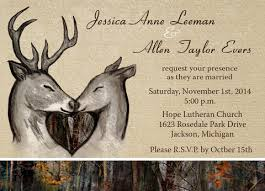 camo wedding invitations deer wedding invitations